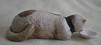"""Декоративная статуэтка """"Кот трапезничает"""" оригинальный подарок ручной работы"""