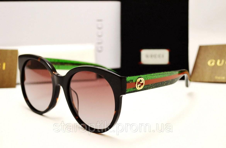 Женские солнцезащитные очки Gucci GG035/SA LUX (цвет коричневый), фото 1