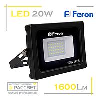 Светодиодный LED прожектор Feron LL-520 20W 28LED 6400K 1600Lm