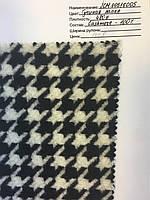 Ткань кашемир (cashmere) 480 черно-белая гусиная лапка