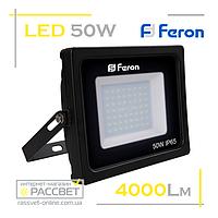 Светодиодный LED прожектор Feron LL-550 50W 56LED 6400K 4000Lm, фото 1