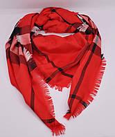 Большой кашемировый платок, шаль Burberry красная
