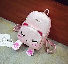 Милый рюкзак с лицом и лапками спящего котика, фото 3
