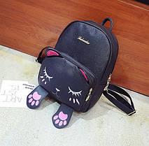 Милый рюкзак с лицом и лапками спящего котика, фото 2