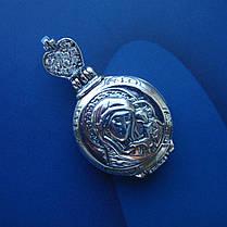 Серебряная подвеска-мощевик с фианитами, фото 3