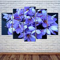 """Модульная картина """"Весенние цветы"""""""