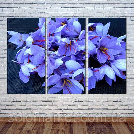 """Модульна картина """"Весняні квіти"""", фото 2"""