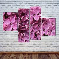"Модульная картина ""Розовая сирень"", фото 1"