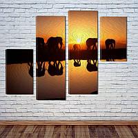 """Модульна картина """"Слони"""", фото 1"""