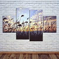 """Модульная картина """"Восход над лугами"""", фото 1"""