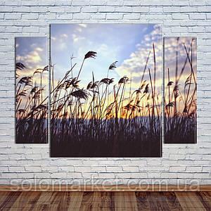 """Модульна картина """"Восход над лугами"""""""