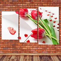 "Модульная картина ""Тюльпаны"", фото 1"