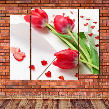 "Модульна картина ""Тюльпани"", фото 2"