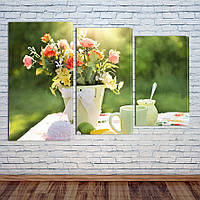 """Модульная картина """"Летние цветы"""", фото 1"""