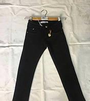 Теплые черные  котоновые брюки для девочки опт