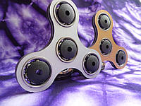 Спиннер противоударный бронза + серебро, Hand Spinner, Finger Spinner