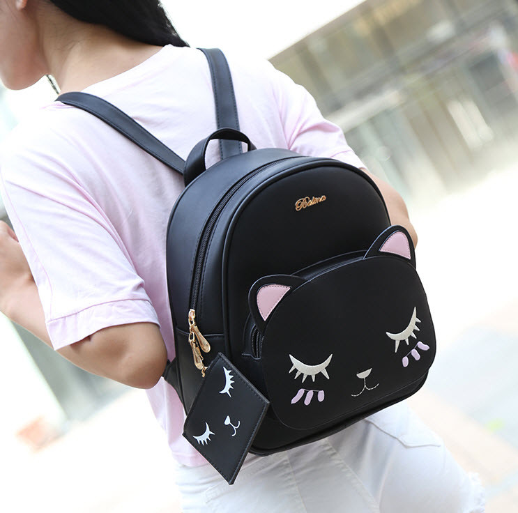 "Рюкзак з мордою сплячого котика ""Belladone"""