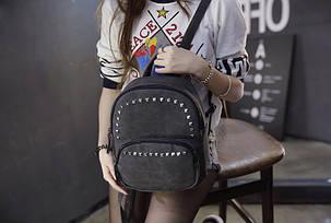 Стильный молодежный рюкзак с заклепками, фото 2