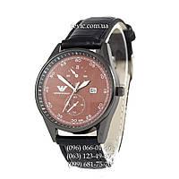 Наручные часы Armani Black\Black\Brown (реплика)