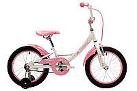"""Детский велосипед для девочки с колесами 16"""" Pride Miaow белый/розовый 2018 (SKD-06-99)"""