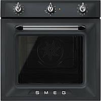 Электрический духовой шкаф с паровой очисткой Smeg SF6905NO1 матовый черный