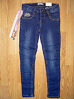 Джинсовые брюки для девочек на флисе, Seagull 134-164 рр