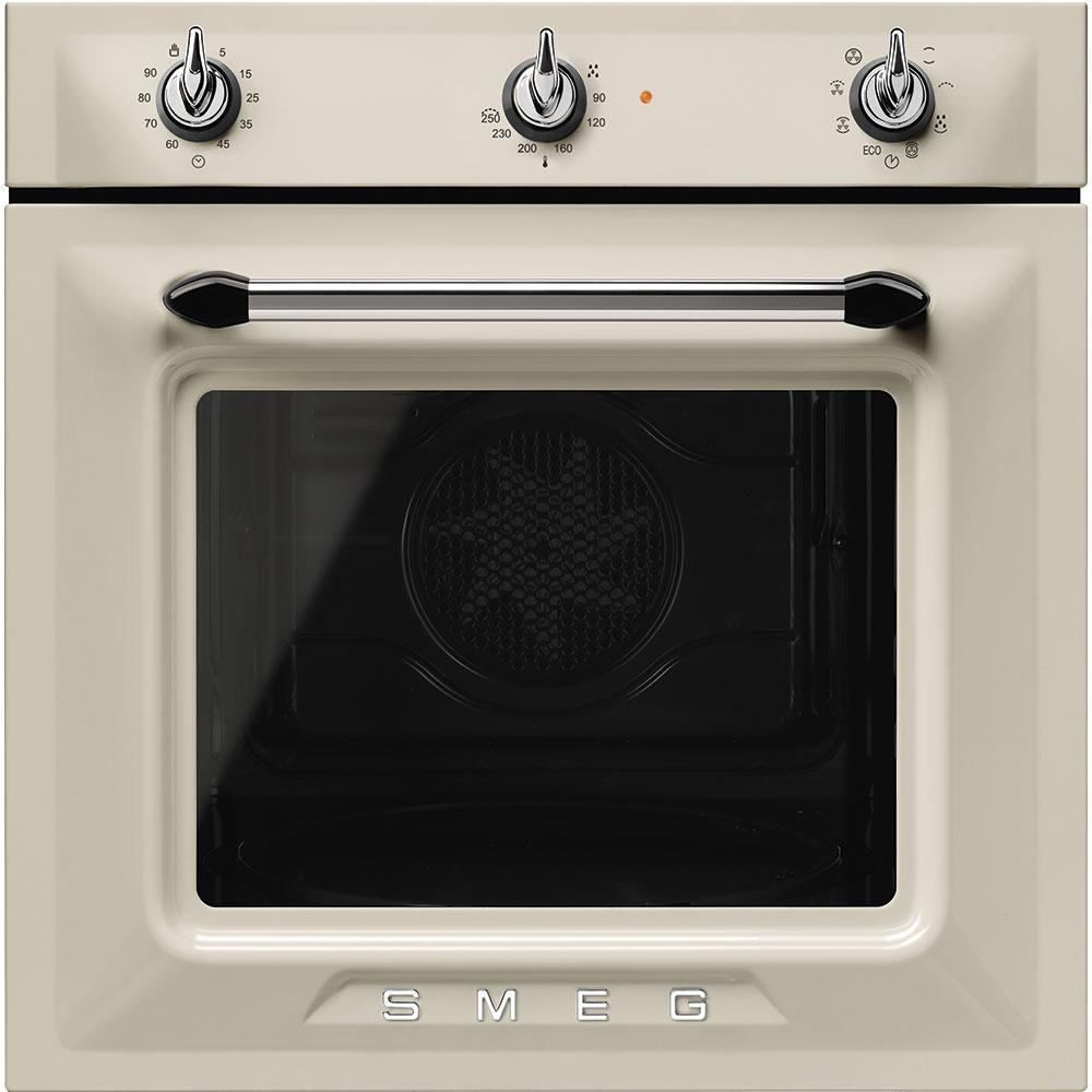 Электрический духовой шкаф с паровой очисткой Smeg SF6905P1 кремовый