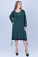 Женское платье бутылрчного цвета 592 (62), фото 1