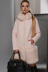 Пальто зимне з хутром