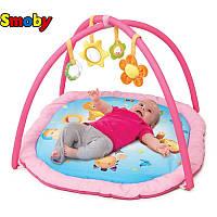 Развивающий коврик розовый Smoby Cotoons 110212