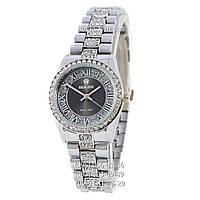 Наручные часы Rolex Datejust Quartz Women Diamonds Silver/Black (реплика)