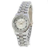 Наручные часы Rolex Datejust Quartz Women Diamonds Silver/White (реплика)
