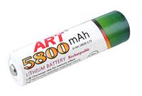 Аккумулятор ART 18650-5800mAh, белый №ART 18650-5800mAh, белыйSO