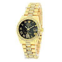 Наручные часы Rolex B61 Full Pave Gold/Black