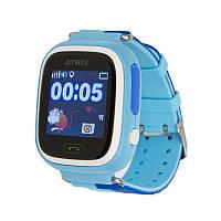 """Atrix  Умные часы Atrix iQ400 Touch GPS Blue; 1,22"""" (240x240) TFT сенсорный / MediaTek MTK2503D / 128 МБ оперативной памяти / 64 МБ встроенной /"""
