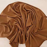 Шарф из трикотажа коричневый