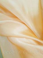 Гардина Микровуаль №12 нежно-персиковый однотонная