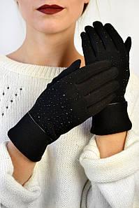 Женские перчатки трикотажные Амаретти 1 черные размер 6,5