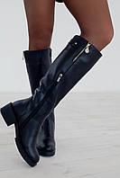 Сапоги женские кожаные модные 1927 кожа/байка