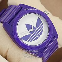 Часы Adidas Log  фиолетовый/ белый
