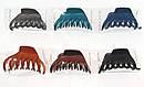 Заколка-краб для волос каучук L 8,5 см синяя, фото 4