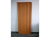 Двери гармошка глухая вишня