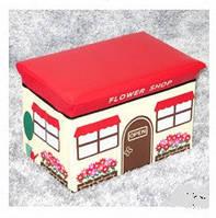 """Пуф короб складной """"цветочный магазин"""", ящик - органайзер для игрушек"""