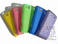 Пластиковый чехол в сеточку для HTC Salsa