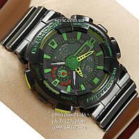 Наручные часы Casio GA-110 Black/Black/Green (реплика)