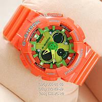 Наручные часы Casio GA-120 Оrange/Light green (реплика)