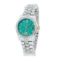 Наручные часы Rolex B61 Full Pave Silver/Turquoise