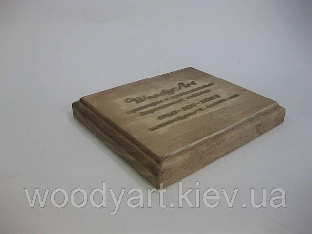 Деревянная подставка-стенд