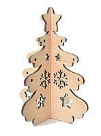 Деревянная новогодняя игрушка заготовка. Ёлка со снежинками и звездой