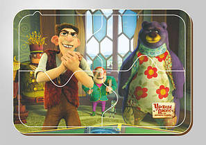Деревянный паззл, 4 элемента, Серия «Урфин Джюс и его деревянные солдаты»